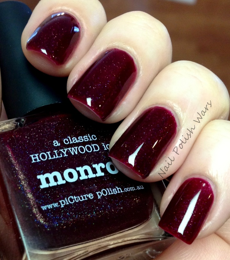 Deep Red Nails