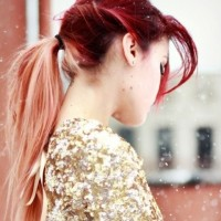 Diverse Red Ombre Hair
