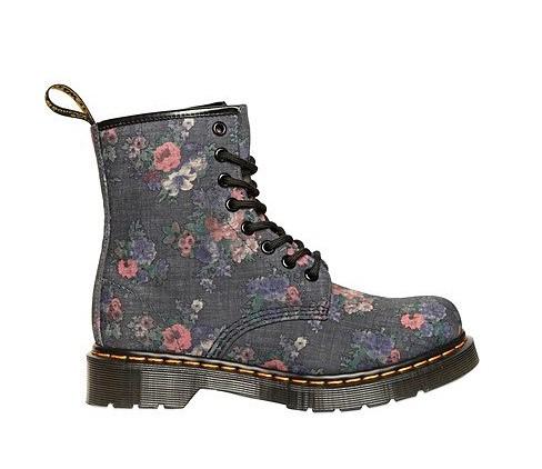 Dr. Martens Floral Printed Denim Boots ($192)