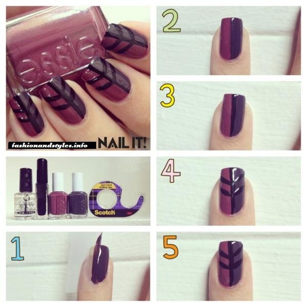 Easy Leave Nail Tutorial