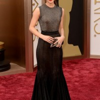 Emma Watson's Metallic Vera Wang Collection Dress at the Academy Awards