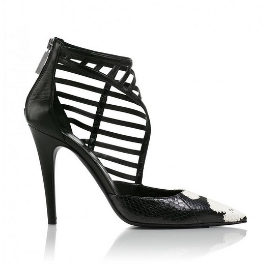 Eyelash Handpainted Watersnake Heel ($995)