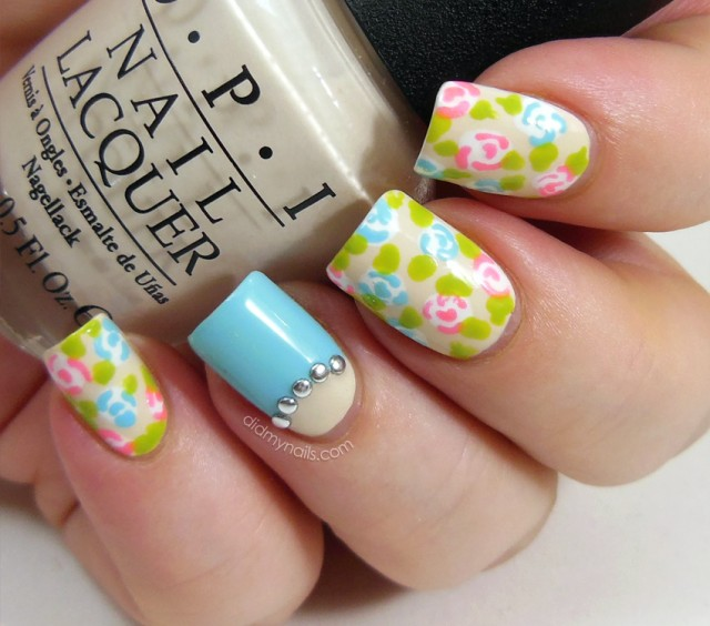 16 spring nail designs for women pretty designs floral nails prinsesfo Choice Image