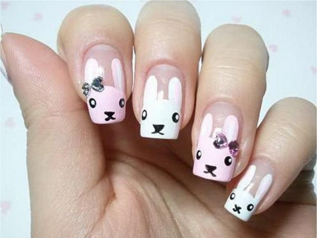 Funny Bunny Nails