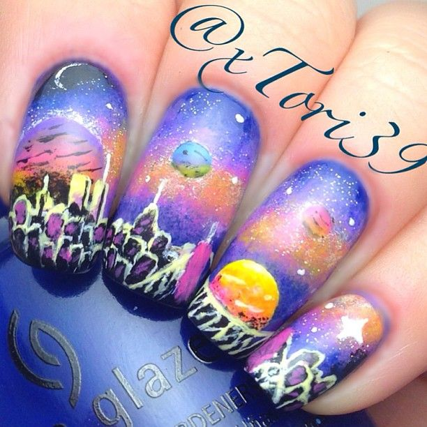 Galaxy Nails - 17 Amazing Galaxy Nail Designs For The Season - Pretty Designs