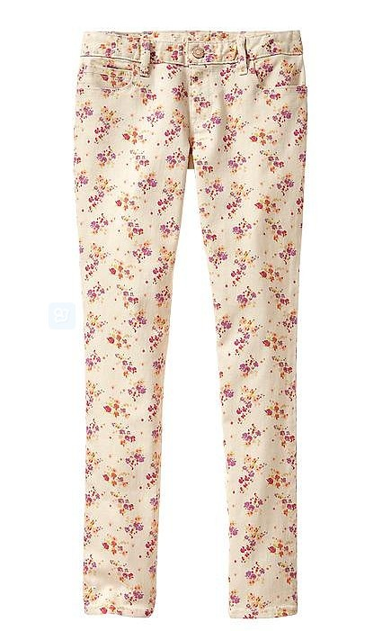 Gap Skinny Floral Jeans ($35)
