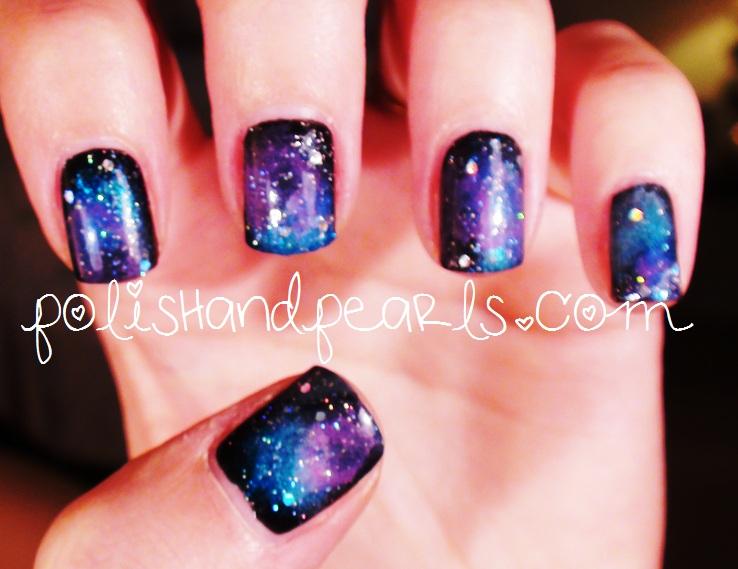 Glitter Galaxy Nails