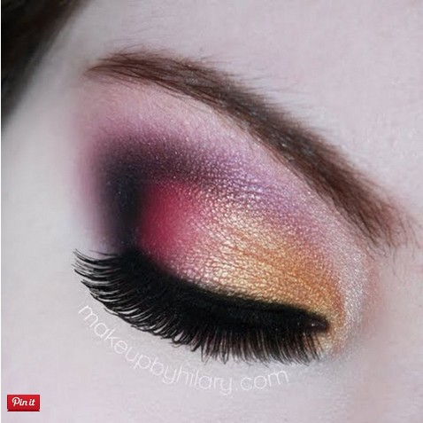Golden Pink Makeup