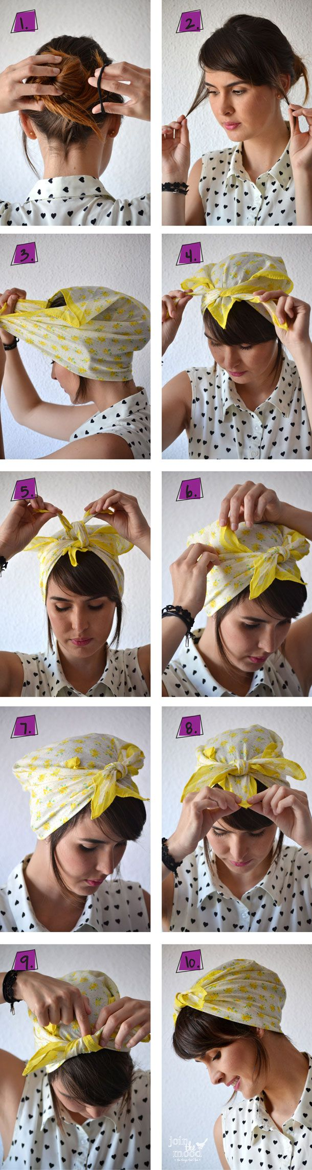 10 Tutorials for Bandana Hairstyles - Pretty Designs