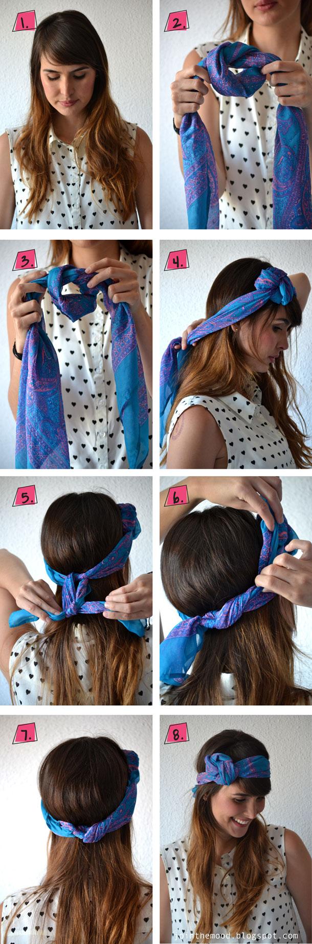 Hair with a Blue Bandana
