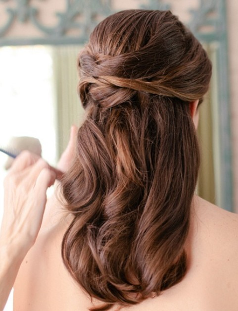 Half Up Half Down Wedding Hairstyles For Medium Length Hair ...