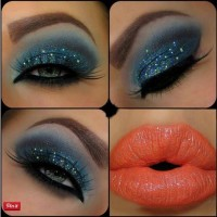 Hot Sparkle Blue Makeup