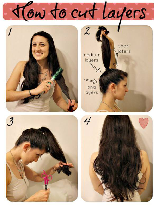 How To Make A Layered Haircut On Your Own Pretty Designs