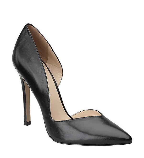 Black Leather Heel ($79)