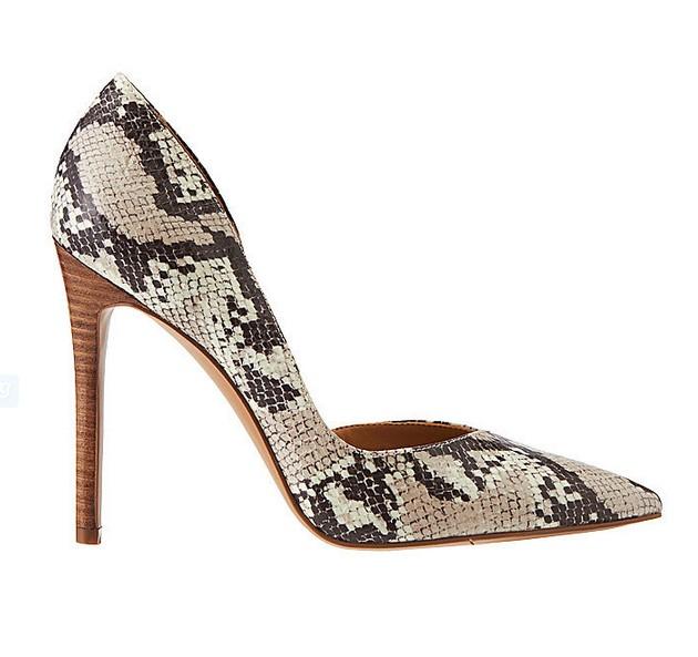Faux Snakeskin Heel ($79)