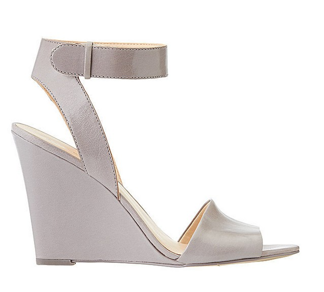 Grey Leather Sandal ($109)