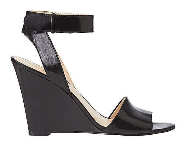Black Leather Sandal ($109)