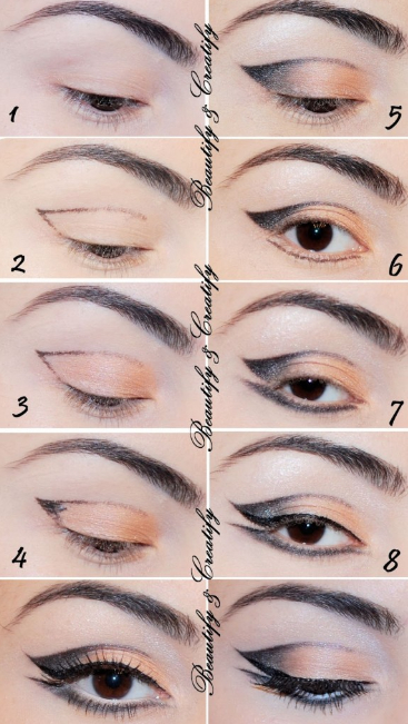 16 Useful Cat Eye Makeup Tutorials Pretty Designs