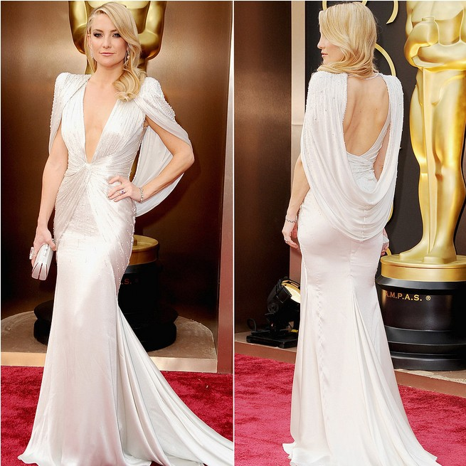 Kate Hudson&-39-s Silky Silver Atelier Versace Gown for Vintage Red ...
