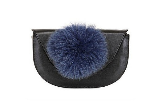 Kzeniya Ball Clutch With Fur Pompom ($230, originally $513)