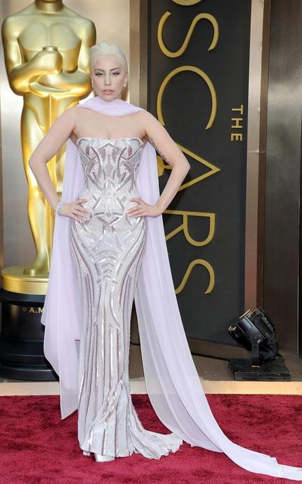 Lady Gaga at the 2014 Oscars