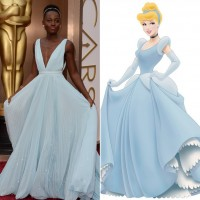 Lupita Nyong'o Pastel Blue Prada Dress
