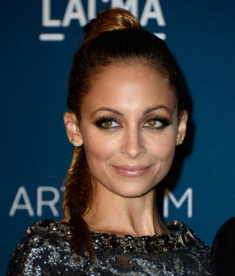 Nicole Richie High Braid/Getty Images