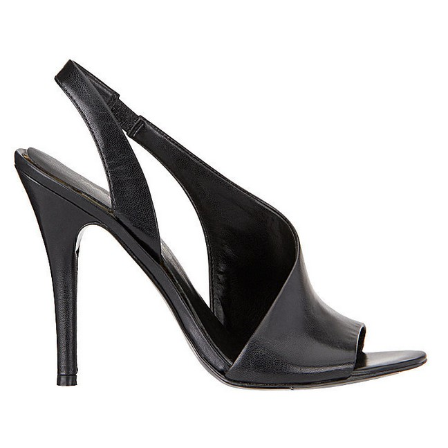 Black Leather Sandal ($89)