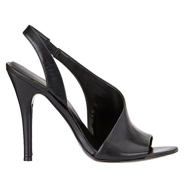 Black Leather Sandal ($89)