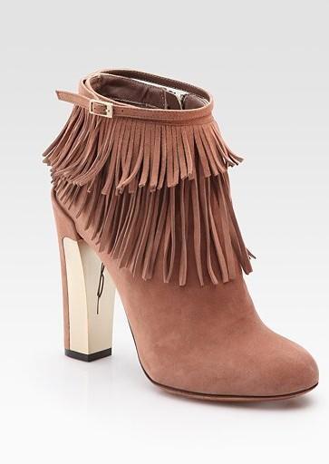 Pembra Suede Fringe Ankle Boots ($500)