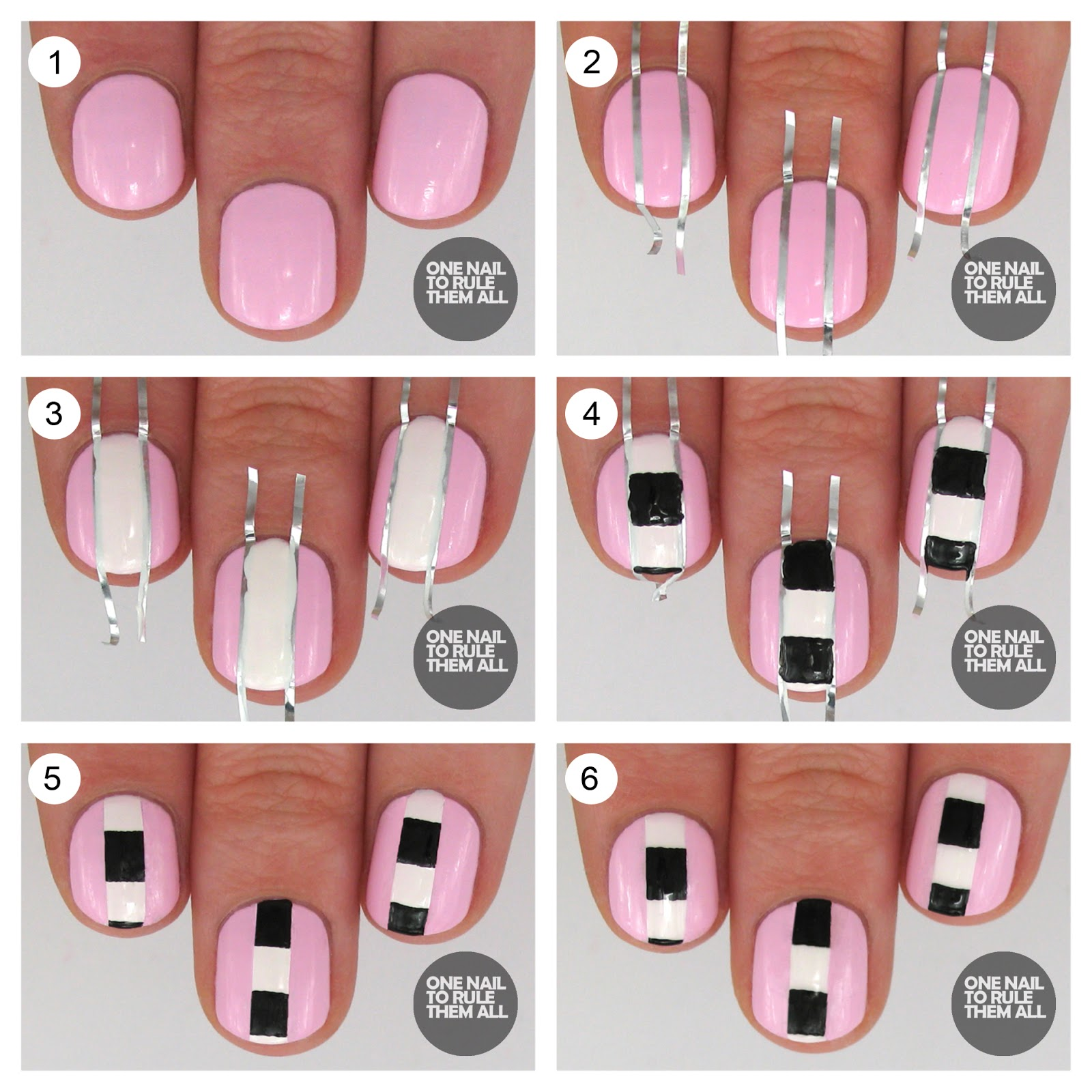 14 Nail Tutorials With Tape Tricks
