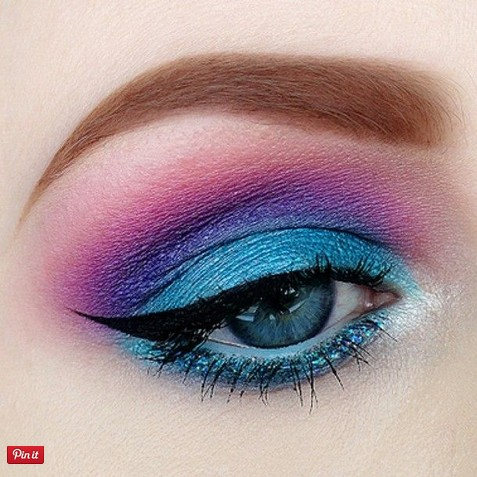 Pink, Purple And Blue