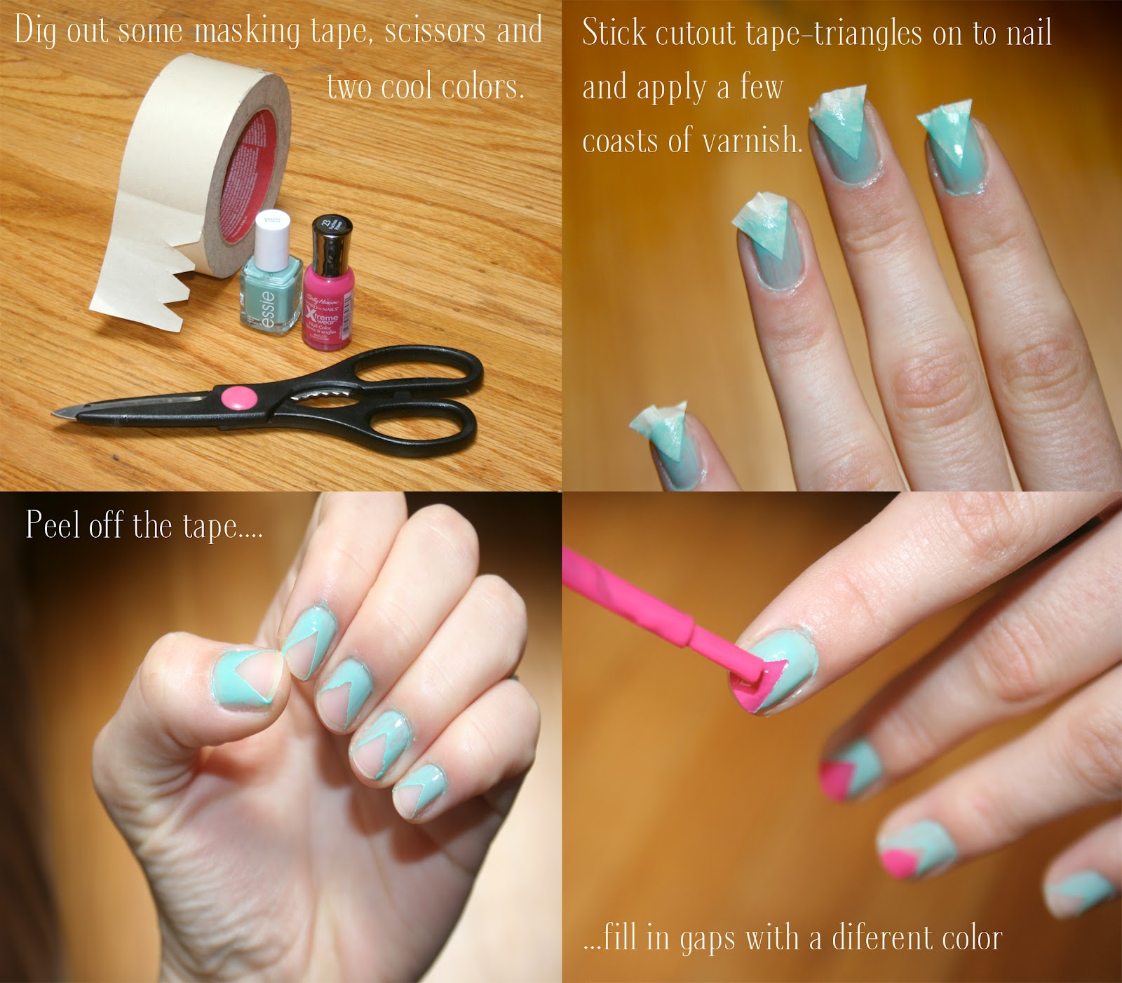 Nail art with scotch tape tutorial best nails 2018 14 nail tutorials with tape tricks pretty designs prinsesfo Gallery