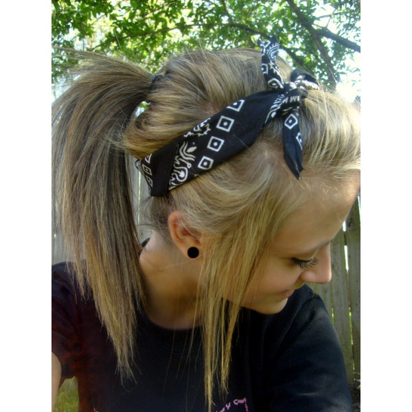 Ponytail with a Bandana