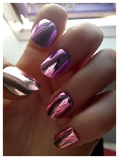 20 Shiny Metallic Nail Designs For Girls To Shine Pretty Designs