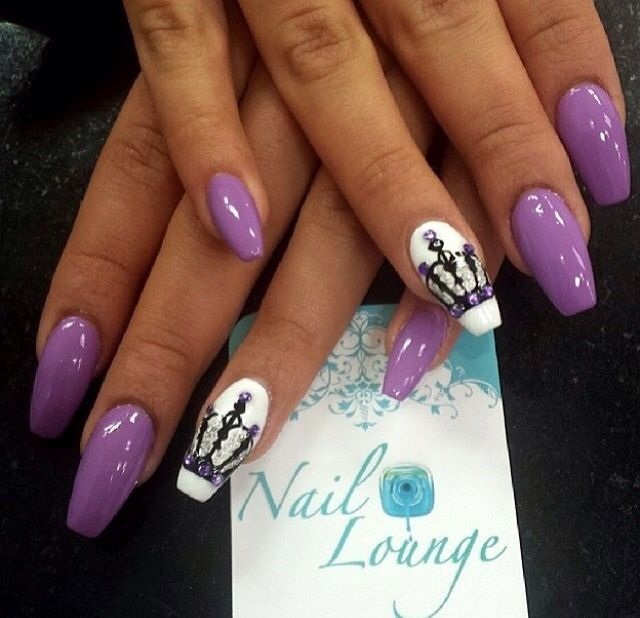 10 Purple Stiletto Nail Designs You Must Have Pretty Designs