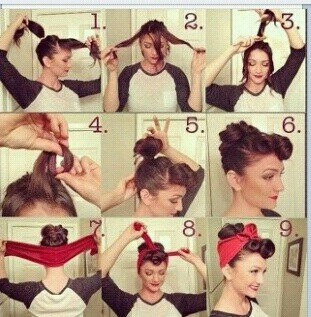 Cool 14 Tutorials For Bandana Hairstyles Pretty Designs Hairstyles For Men Maxibearus