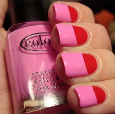 Red and Pink Nails