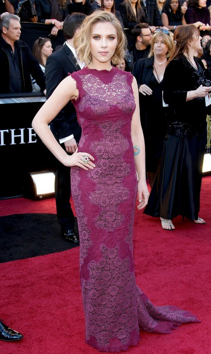Een collectie van Scarlett Johansson's glamoureuze jurken ooit