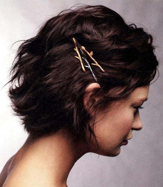 Short Hair with Pins