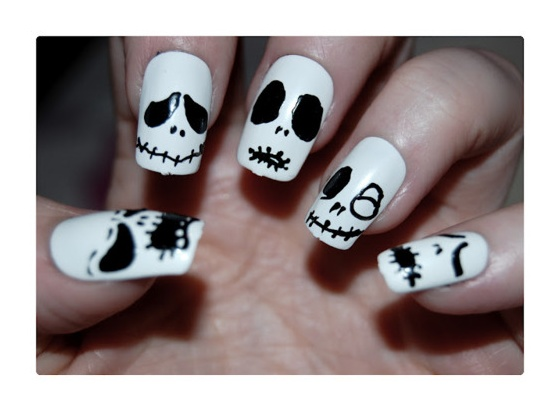 Skull design on nails image collections nail art and nail design 20 skull nail designs to rock the season pretty designs simple skull nails prinsesfo image collections prinsesfo Images