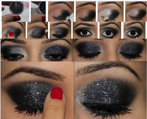 25 eye catching sparkly makeup ideas   pretty designs