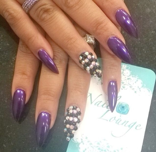 10 purple stiletto nail designs you must have pretty designs stiletto nails prinsesfo Gallery