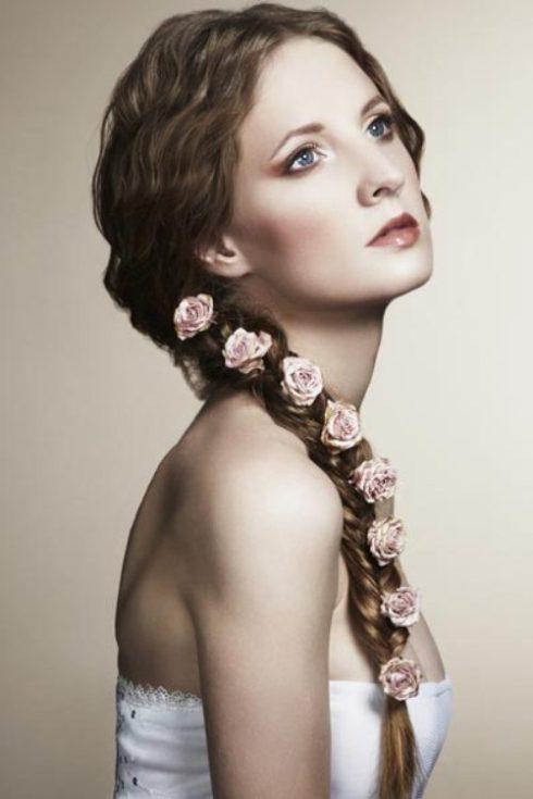 Sensational 14 Braided Hairstylesstylish Braids With Flowers Pretty Designs Short Hairstyles Gunalazisus
