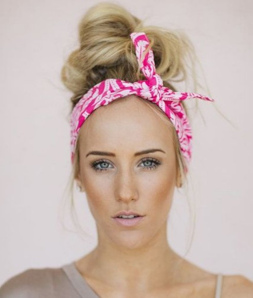 Top Bun with a Bandana