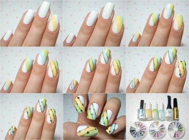 Tri-colored Nails