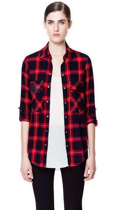 Zara's Checked Shirt ($60)