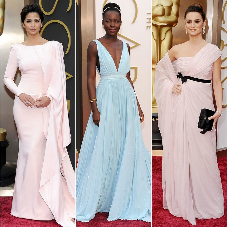 3 Gorgeous Pastel Gowns at the Academy Awards