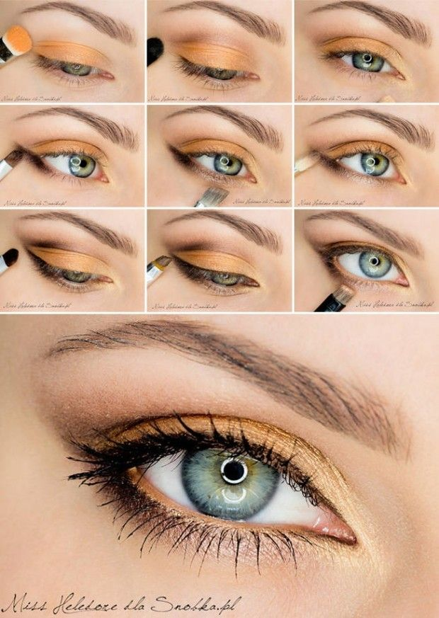 2014 Best Orange Eye Makeup Tutorials