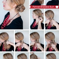 Fishtail Braid Bun Tutorial via